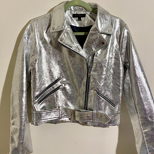 Dance and Marvel metallic moto jacket sz large