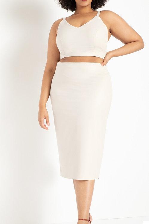 Brand New Eloquii Winter White Column skirt. Sz 20