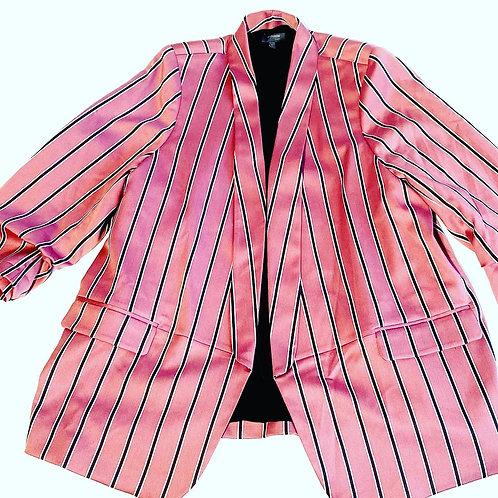 Pink blazer with navy blue pinstripe size 2X