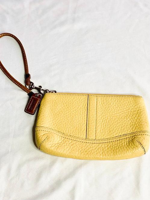 Yellow Coach wristlet