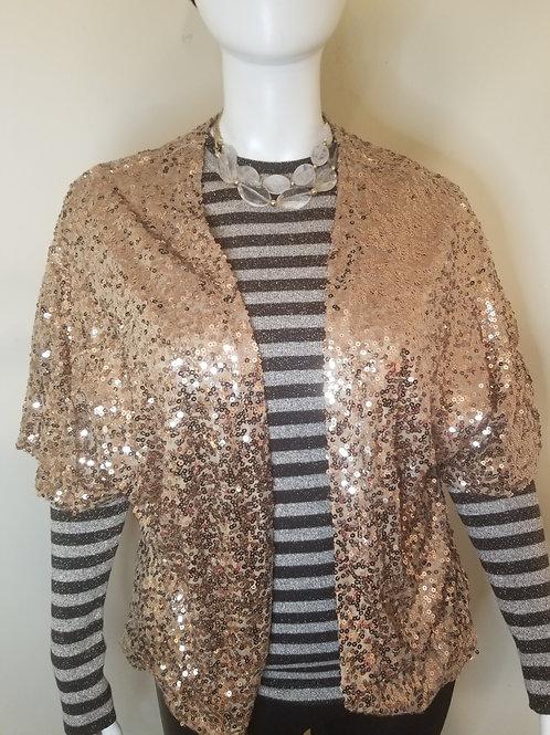 Gold sequin shrug size XL