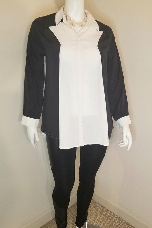Asos colorblock long sleeve blouse size medium