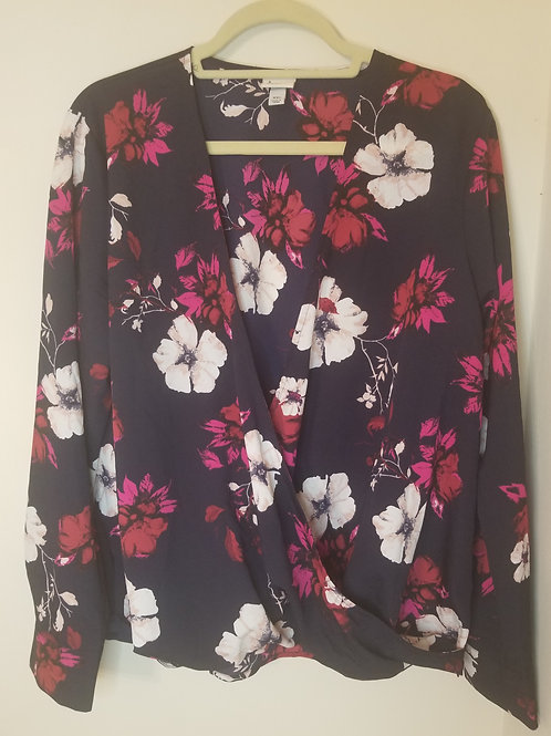 Floral wrap blouse by A New Day sz XXL