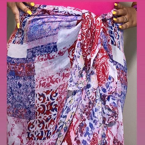 Multi colored wrap/coverup