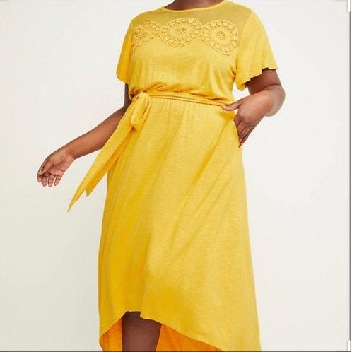 Lane Bryant high low yellow dress sz 18/20