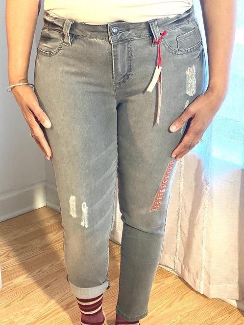 Elle grey jean leggings sz 14 R