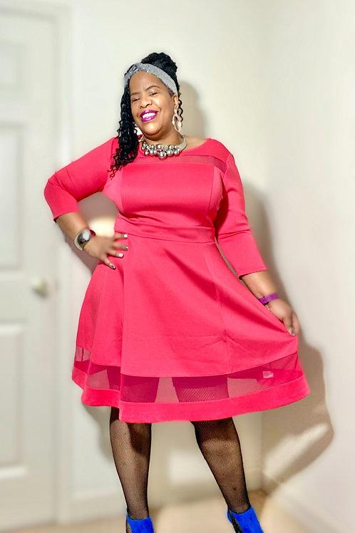 Gorgeous hot pink dress by Lane Bryant. Brand New