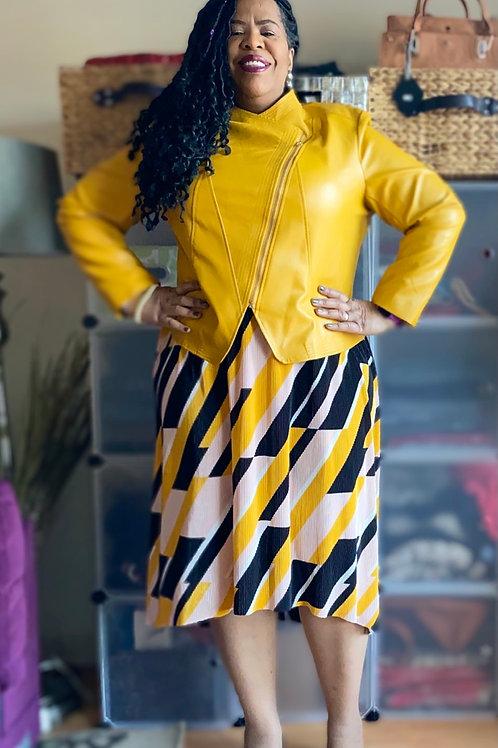 Lane Bryant geo patterned hi-low skirt. Gorgeous skirt with elastic waist. sz 18