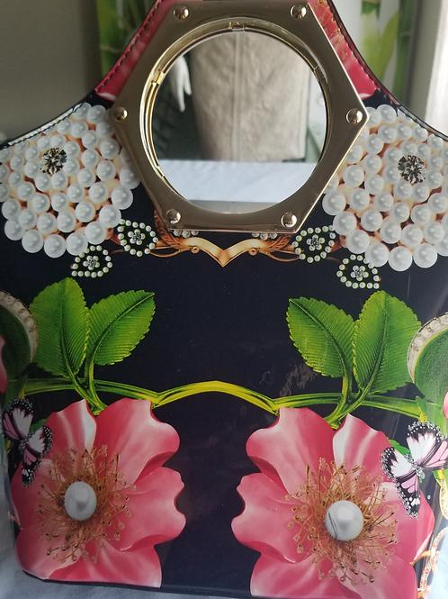 Beautiful floral decorative bag