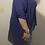 Thumbnail: Navy blue criss cross hi-low blouse size 2X