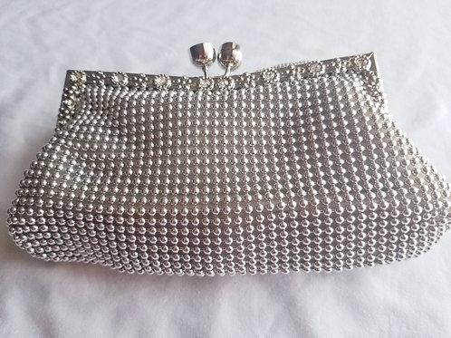 Small silver fashion clutch