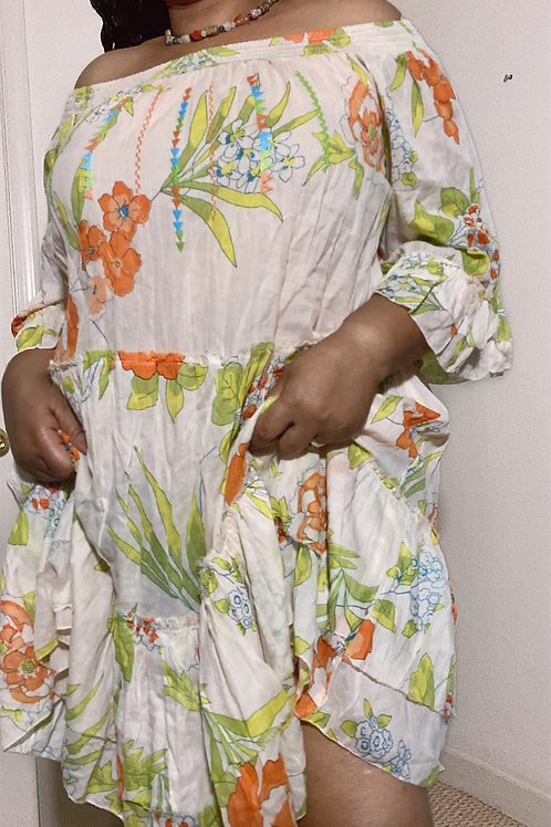Beautiful bohemian cotton dress size 2X
