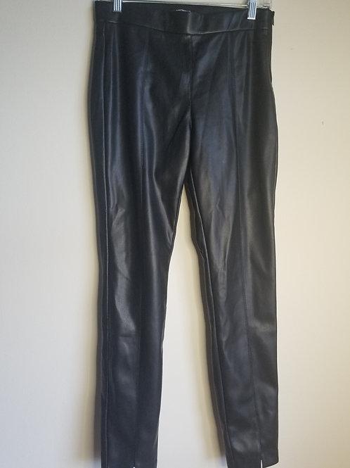 Zara trafaluc faux leather black legging size medium