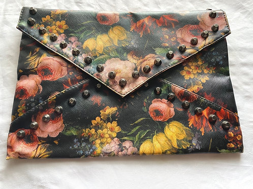 Beautiful floral studded clutch