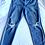 Thumbnail: Ann Taylor distressed jeans size 14