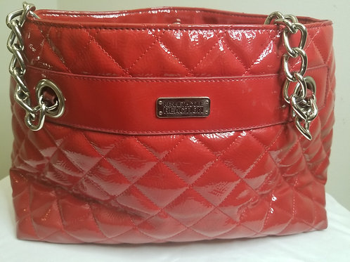 Red patent leather Kenneth Cole bag