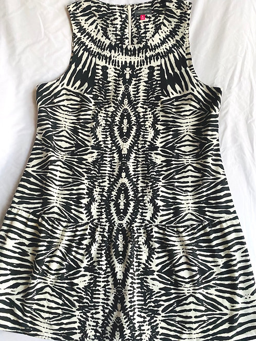 Vince Camuto black and white geo dress