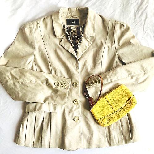 Tan H&M pleated blazer