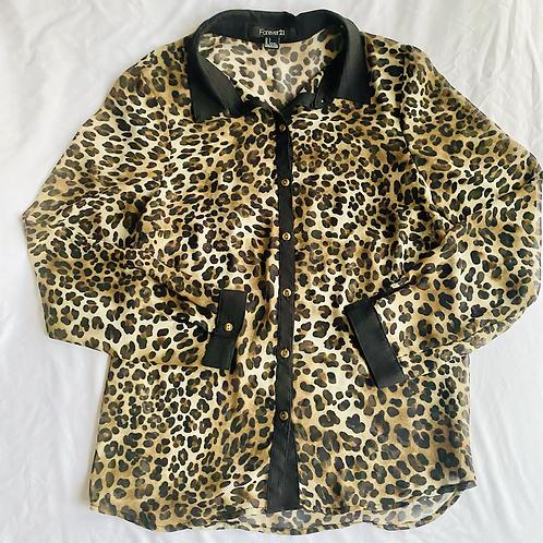 Animal print sheer blouse by Forever 21