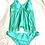 Thumbnail: Turquoise tankini swimsuit size 2X