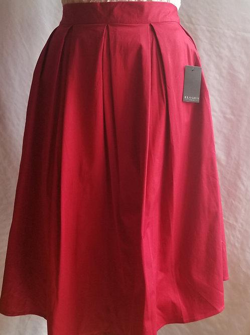 Eloquii Red Full Midi Skirt sz 18