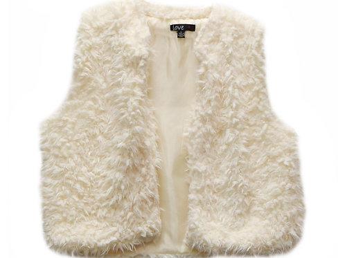 Love faux lamb vest in cream sz medium