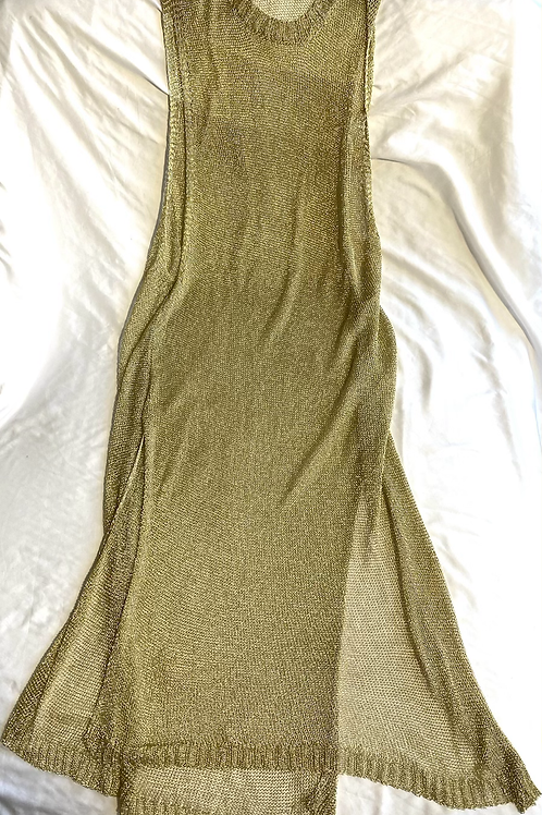 Ashley Stewart gold metallic colored mesh cover up size 22/24
