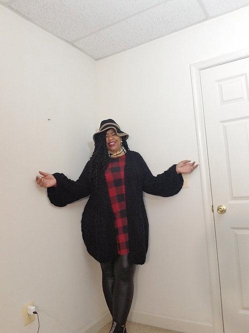 Fashionova black knit sweater with bell sleeve size 1X