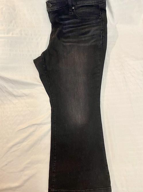 Black denim crop jeans by Lane Bryant, size 20