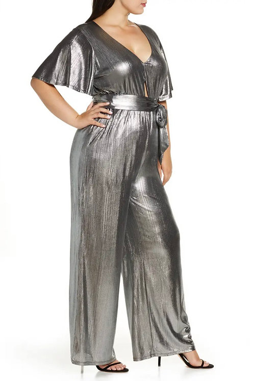 Eloquii metallic jumpsuit size 18