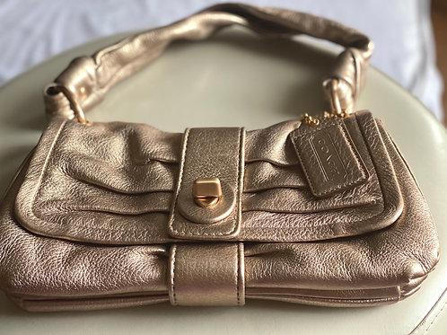Gorgeous metallic gold Coach shoulder bag (small)