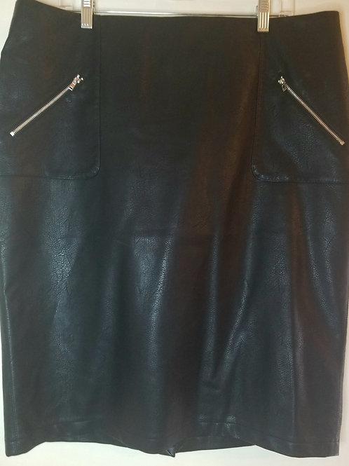 Vegan leather pencil skirt with zippers sz 1X