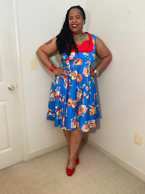 Trashy Diva vintage style dress with circle skirt bottom