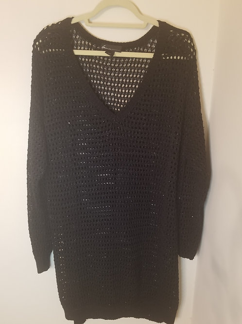 Black Lane Bryant fishnet sweater size 22/24