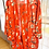 Thumbnail: Red floral kimono jacket with matching belt, size 1X/2X
