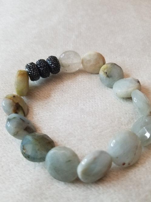 Beautiful elastic multi-stone bracelet