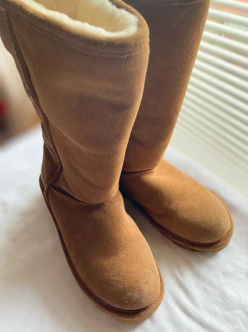 Bearpaw Elle tall suede sheepskin boot