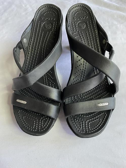 Crocs black sandals
