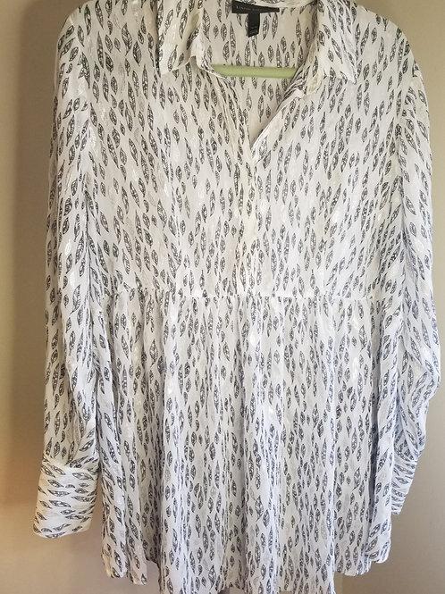 White long sleeve blouse by Lane Bryant sz 14/16