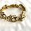 Thumbnail: Beautiful simulated diamond and fashion gold bracelet