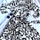 Thumbnail: Banana republic black and white wrap dress. Size large