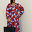 Thumbnail: Eloquii printed wrap dress with tie. New with tags, original cost $119