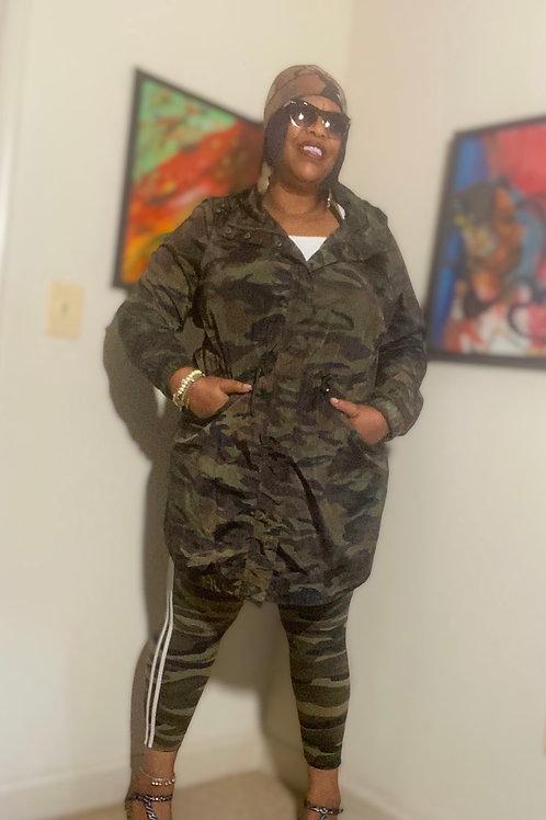 Lightweight camouflage jacket by Torrid