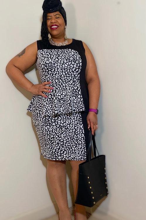 Ashley Stewart sleeveless peplum dress. Size 18