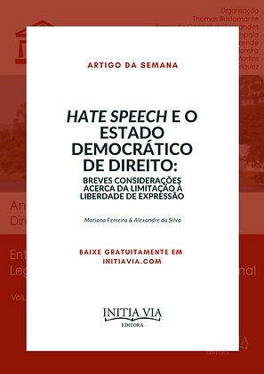 Artigo Hate Speech e o Estado Democrático de Direito