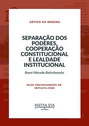 Artigo Separação dos Poderes, Cooperação Constitucional e Lealdade Institucional