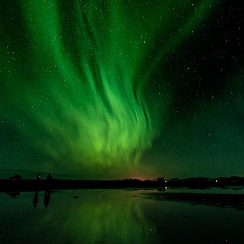 Meine ersten Nordlicht-Erlebnisse in Hoefn Island