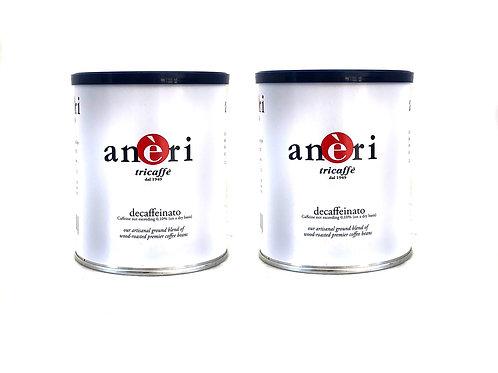 Aneri DECAF Espresso Ground (2 Tins)