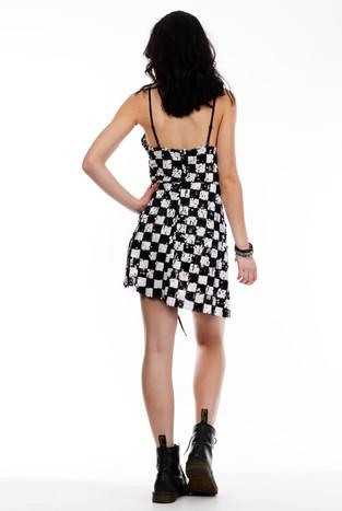 Checkered Black & White Dress