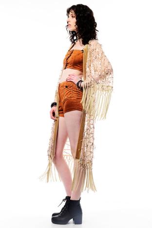Mesh Sparkley Kimono